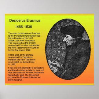 Religião, história, Desiderius Erasmus Poster