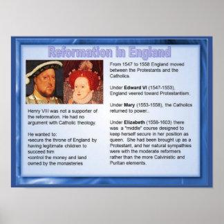 Religião, história, reforma em Inglaterra Poster