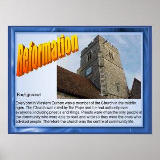 Religião, história, reforma, fundo poster