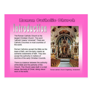 Religião, igreja católica romana, introdução cartão postal