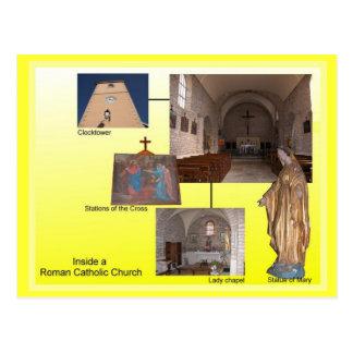 Religião, interior católico romano cartoes postais