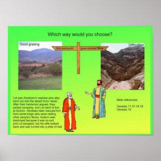 Religião, judaísmo, escolhas, Abraham e lote Poster