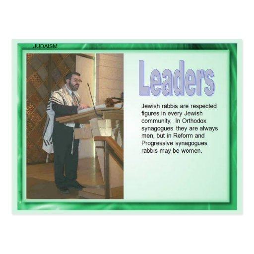 Religião, judaísmo, líderes cartoes postais