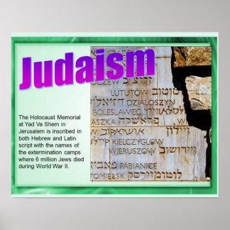 Religião, judaísmo, memorial do holocausto pôster
