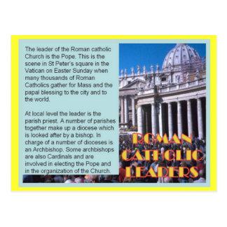 Religião, líderes católicos romano cartoes postais