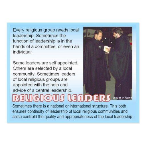 Religião, líderes religiosos cartoes postais