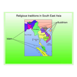 Religião tradições religiosas de 3Sudeste Asiátic Cartoes Postais