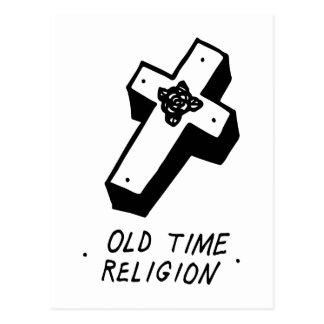 Religião velha do tempo cartão postal