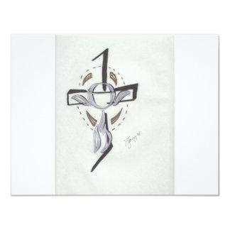 Religioso abstrato convite 10.79 x 13.97cm