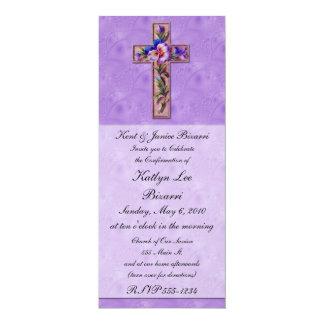Religioso, baptismo, anúncio da confirmação convite 10.16 x 23.49cm