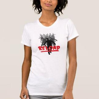 Reload da horda do zombi - camisa das mulheres