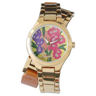Relógio 2015 contente do bracelete das senhoras do