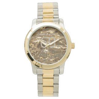 Relógio 60th Chique do ouro do casamento de diamante do
