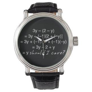 Relógio A álgebra porque deve humor do cuidado de I