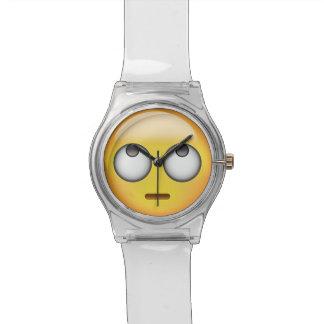 Relógio A cara com rolamento Eyes Emoji