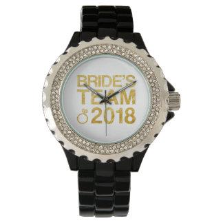 Relógio A equipe 2018 da noiva
