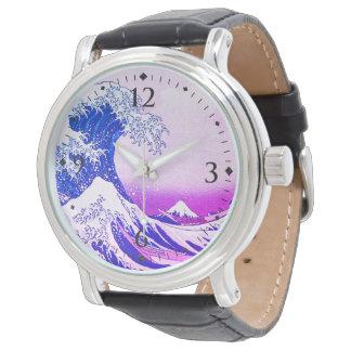 Relógio A grande onda fora de Kanagawa