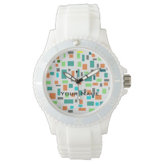 Relógio à moda com seletor colorido