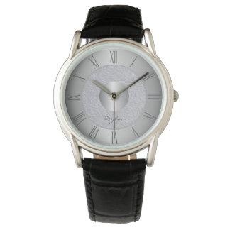 Relógio Aço do cinza de prata