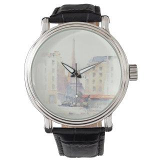 Relógio Aguarela da torre Eiffel   Paris