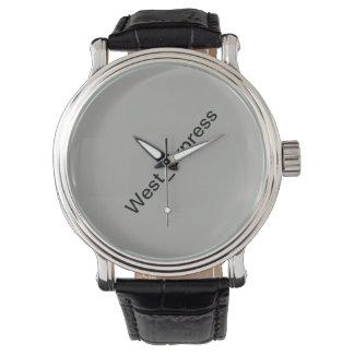 Relógio Ajustado agradável e couro real
