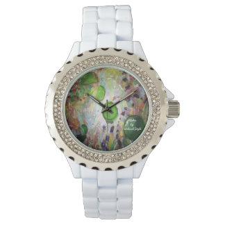 Relógio alfa do cristal de rocha