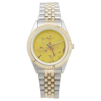 Relógio ambarino polonês da libélula