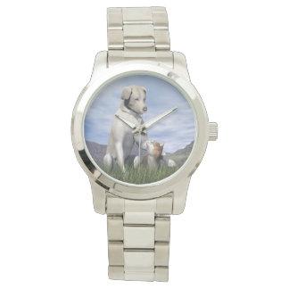 Relógio Amizade do cão e gato