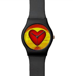 Relógio Amor pelo por do sol - 3D rendem