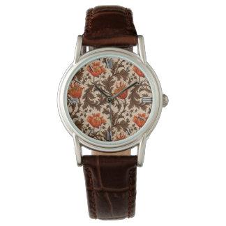 Relógio Anêmona, bege, Brown e oxidação de William Morris