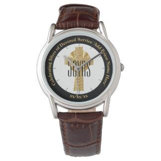 Relógio Aniversário da classificação do presente do padre