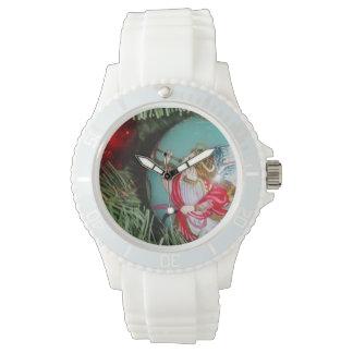 Relógio Anjo do Natal - arte do Natal - decorações do anjo