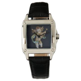 Relógio antigo do anjo da porcelana