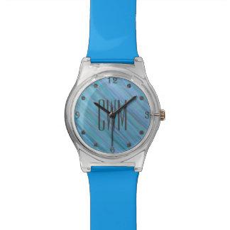 Relógio Aqua Laidback | do azul de turquesa do monograma