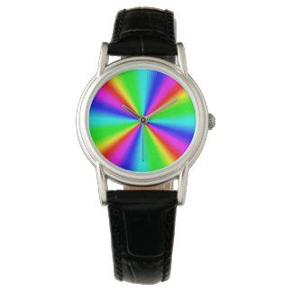 Relógio Arco-íris brilhante colorido