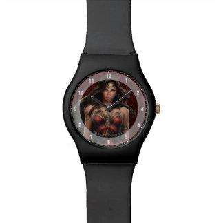 Relógio Arte cómica Batalha-Pronta da mulher maravilha