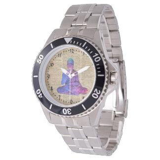 Relógio Arte do dicionário de Buddha do espaço