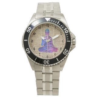 Relógio Arte do dicionário do vintage de Buddha do espaço