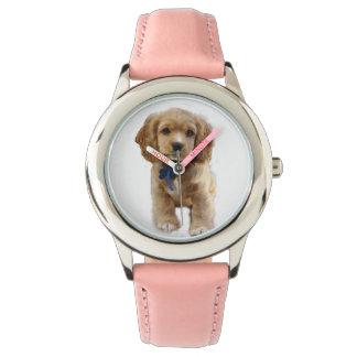 Relógio Arte do filhote de cachorro