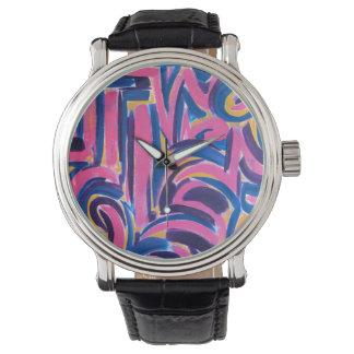 Relógio Arte do Grafite-Abstrato do grego clássico pintado