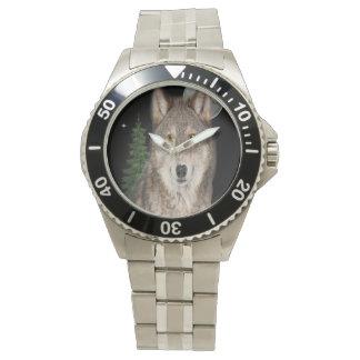 Relógio arte do lobo