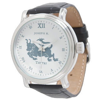 Relógio Arte | do vintage do sinal da estrela do Taurus