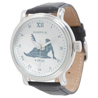 Relógio Arte | do vintage do sinal da estrela do Virgo