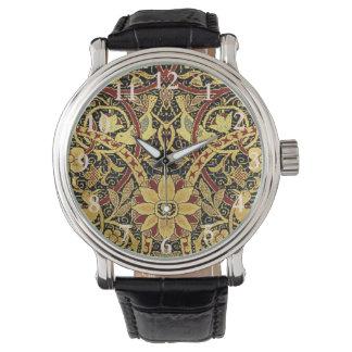Relógio Arte floral da tapeçaria de William Morris