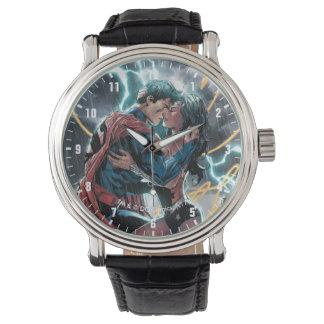Relógio Arte relativa à promoção cómica do superman/mulher