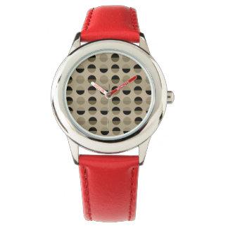 Relógio As bolinhas retros modernas refrigeram geométrico