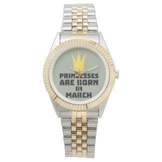 Relógio As princesas são em março Z60zh nascidos