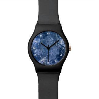 Relógio azul da colagem May28th do Grunge