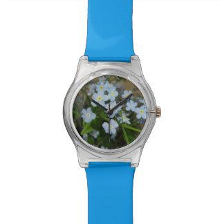 Relógio azul da flor