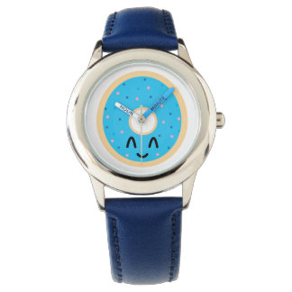 Relógio azul da rosquinha de Emoji